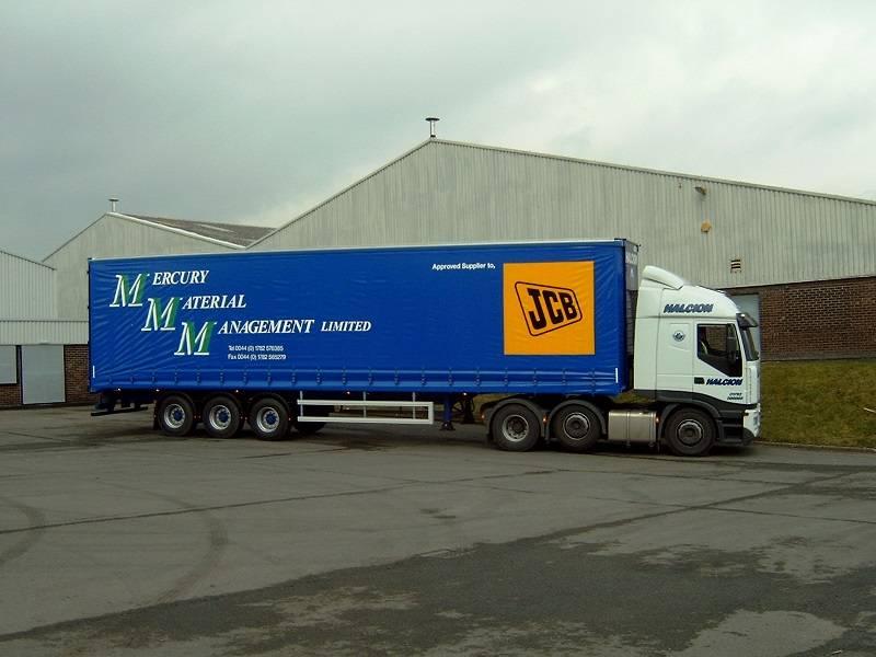 JCB pallet delivery vehicle at Halcion Express